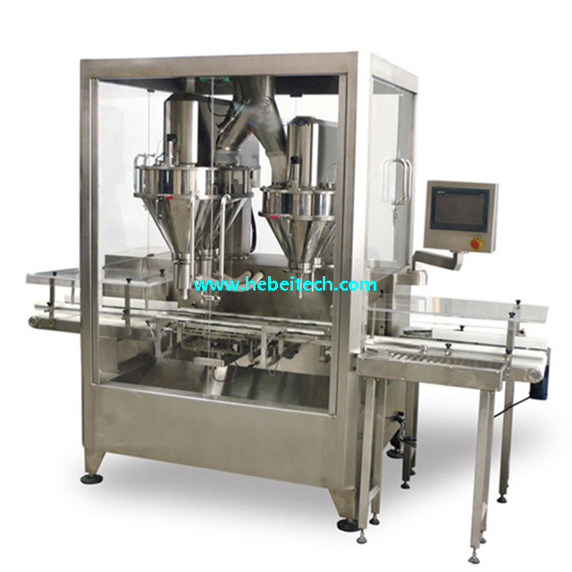 Tinplate Milk Powder Chicken Powder Filling Canning Seaming Machine China Manufacture